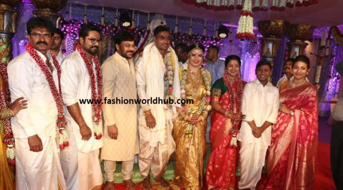 Celebrities at Radhika Sarathkumar daughter Rayanee Wedding.