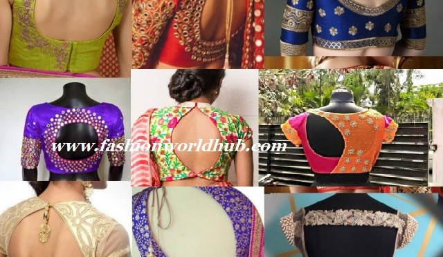 Trending cut out saree blouses