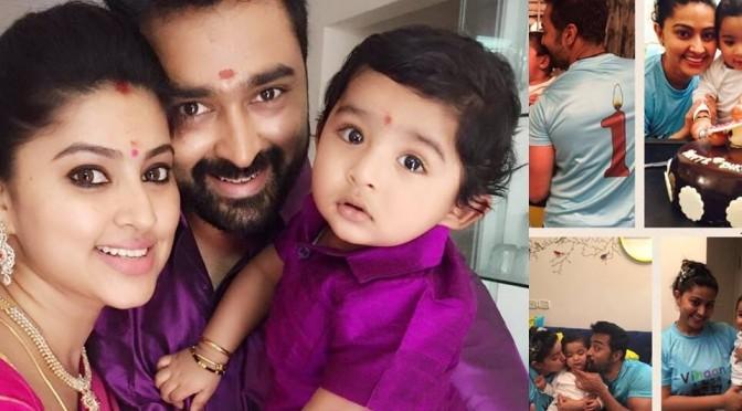 Sneha Prasanna's  son 1st Birthday photos