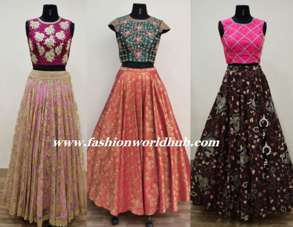 Designer Long Skirts And Crop Tops By Ashwini Reddy
