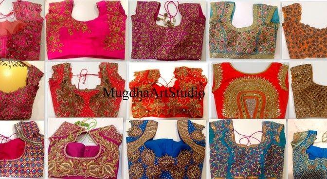 25 Maggam work blouses- designer Mugdha art Studio