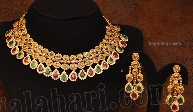 Multistone Necklace by Malabar Gold