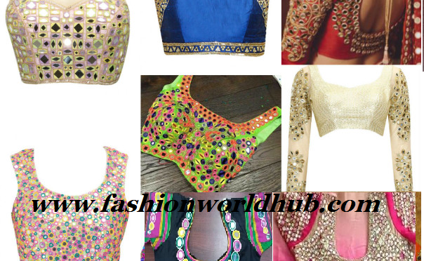 50 Gorgeous Mirror work blouses -Different patterns
