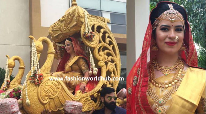 Radhika daughter Rayanee in beautiful pallaki!