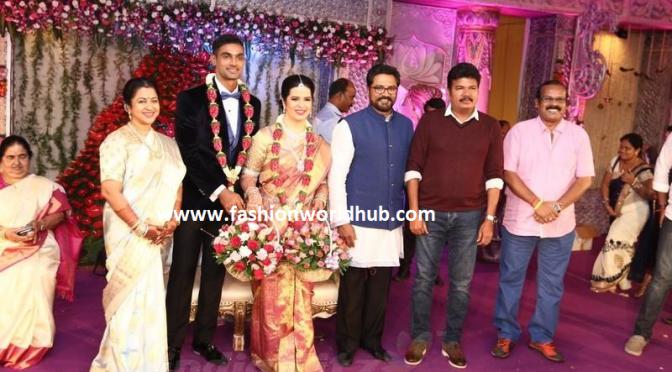 Radhika daughter Rayanee Reception photos