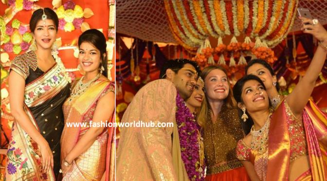 Chiru daughter Sreeja & Lakshmi Manchu in Nimmagadda prasad daughter wedding!