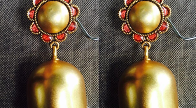 Gold toned Ear rings – INR 6800 RS