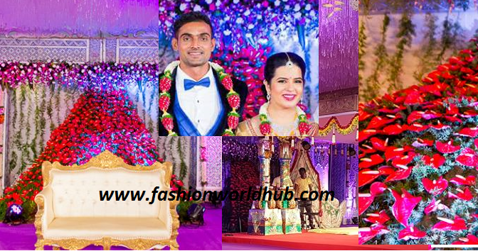 Radhika daughter Rayanee Wedding decoration by Vivahhika! Mind blowing!