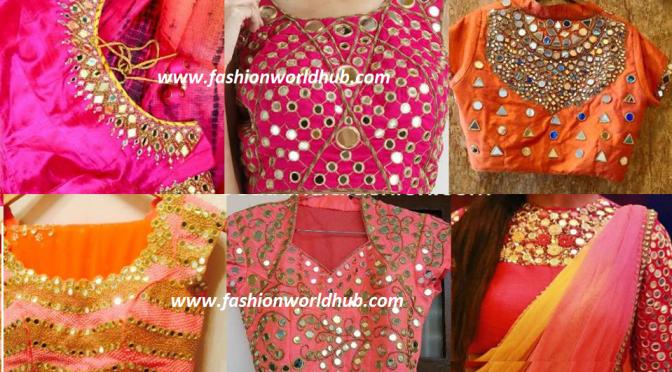 Trending mirror work blouses! ~Fashionworldhub~
