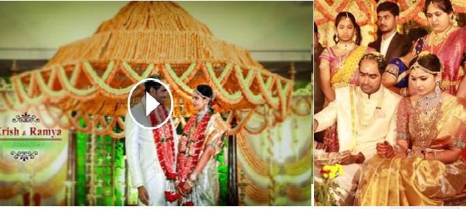 Director krish & Ramya Wedding Video!