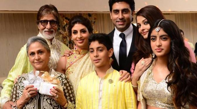 Amitab Bachchan family at a wedding!