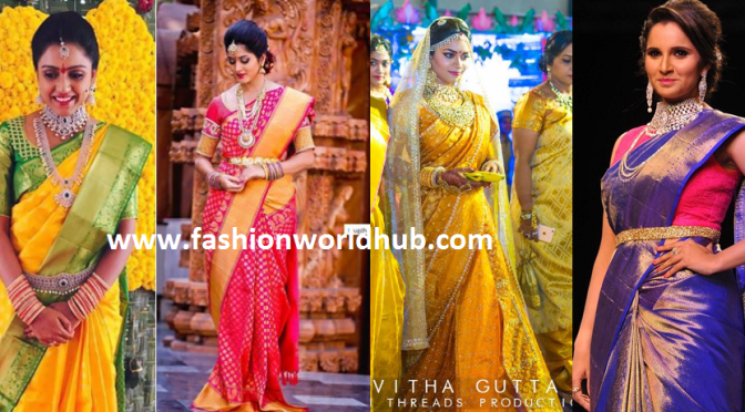 Trending  Kanjeevaram sarees from Famous Fashion Designers!
