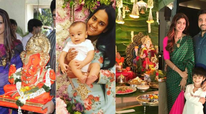 Bollywood stars photos on Ganesh Chaturthi