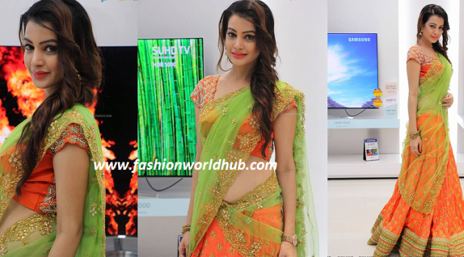 Diksha Panth in Traditional Halfsaree
