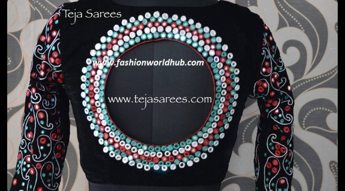 Classic  blouse designs from Teja Sarees!