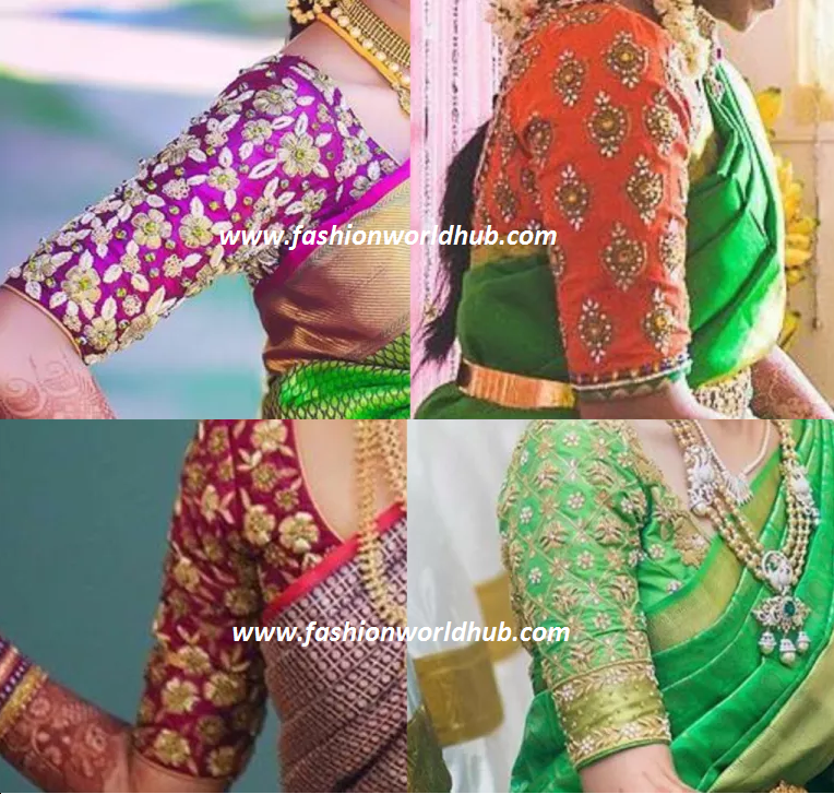 Top Maggam work blouse Designs | Fashionworldhub