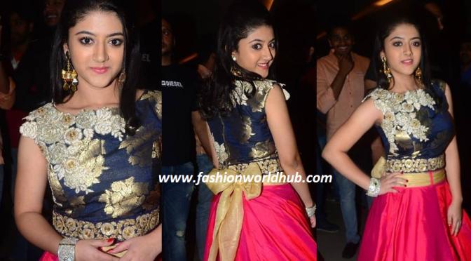 Shirya Sharma in Long Skirt at premiere Nirmala Convent.