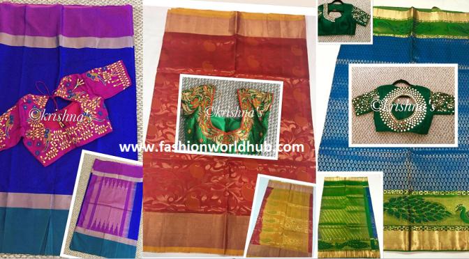 Kanchipuram Silk sarees & Designer blouses
