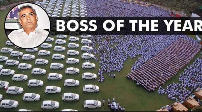 Surat Businessman Gifts 1,260 Cars & 400 Flats As Diwali Bonus To His Employees