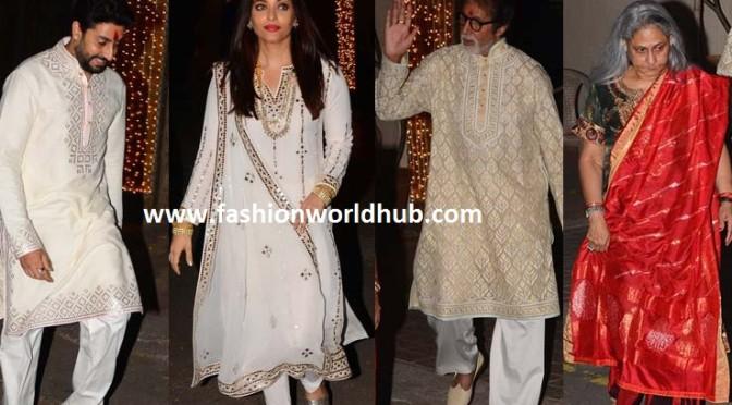 Diwali bash party photos of Amitab bachan & Family!