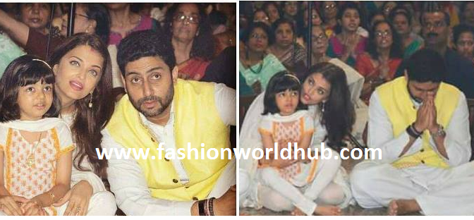 Bachan Family Spotted at durga puja!