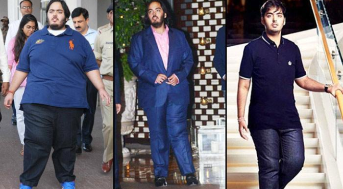 Read How Mukesh Ambani's Son Anant Ambani lost 108 Kgs weight loss!