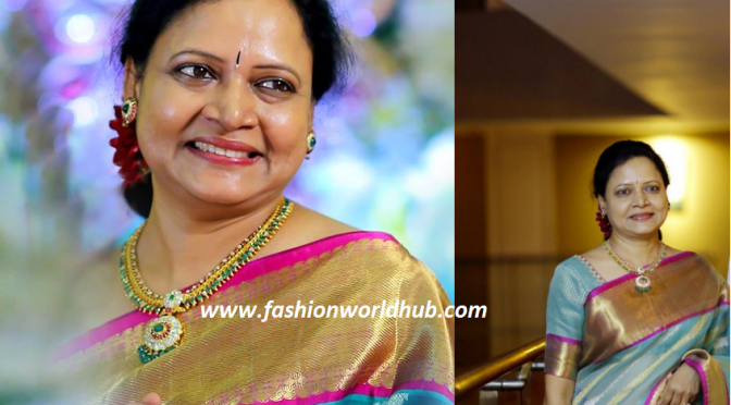 Vasundhara in Kanjeevaram Saree & Diamond Jewellery