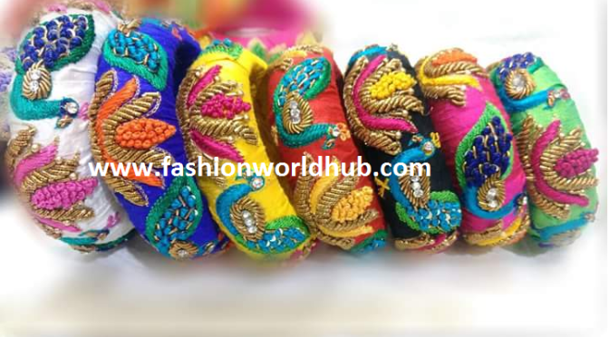 Maggam work bangles! – Designer bangles -Saree Matching!