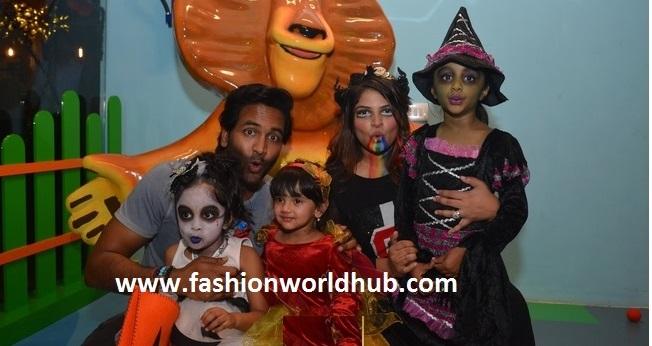 Halloween party Photos- Manchu Vishnu & Family