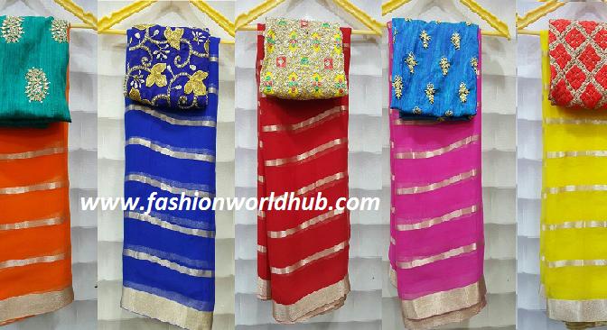 Chiffon Sarees with Designer Sarees Buy online