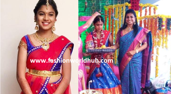 Actress Roja daughter Half saree Cermoney!