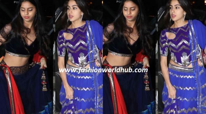 Sharukh Khan & Saif Ali khan daughter in Traditional wear on Diwali party!