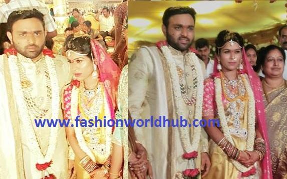 Minister Talasani Srinivas Yadav's daughter Swathi Wedding photos!