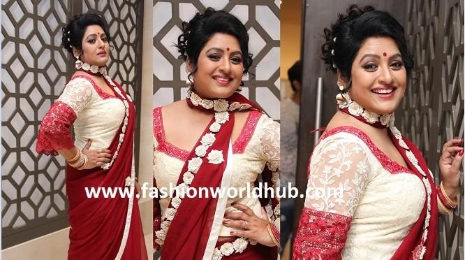 Sana in stylish Saree & Full blouse!