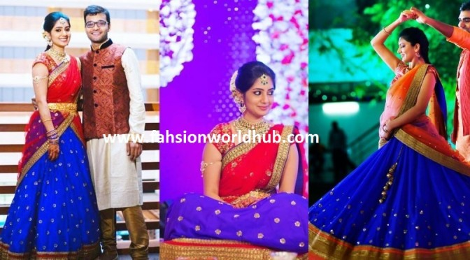 Trending Royal blue & Red Lehengas!