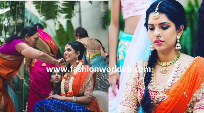 Beautiful bride Bhramini Reddy ( Make up by Sandy)