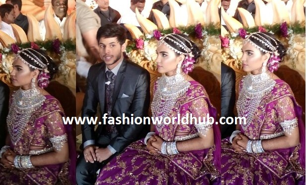 Gali Janardhan reddy daughter Brahamani & Rajeev Reddy Reception Photos!