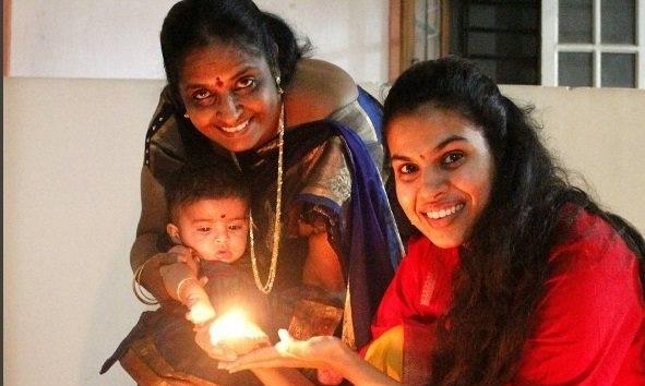 Sravana bhargavi & baby Diwali  photos!