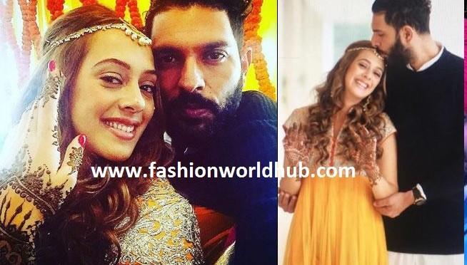 Yuvraj & Hazel Keech's Sangeet & Halidi function photos!