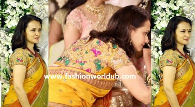 Akkineni Amala in beautiful designer blouse