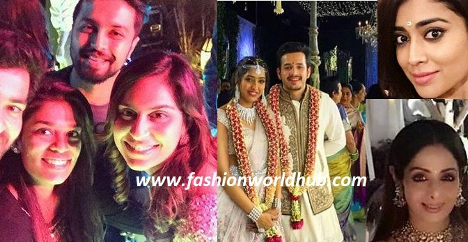 Celebrities at Akhil & Shriya Engagement!