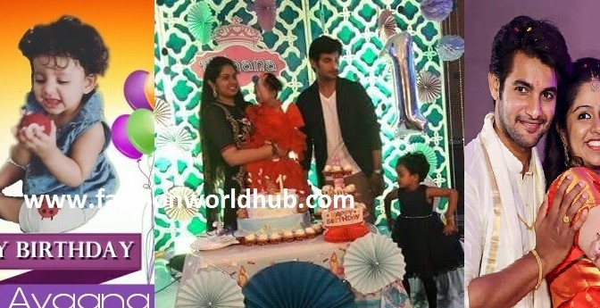 Hero Aadi daughter Aayana 1st Birthday celebration photos!