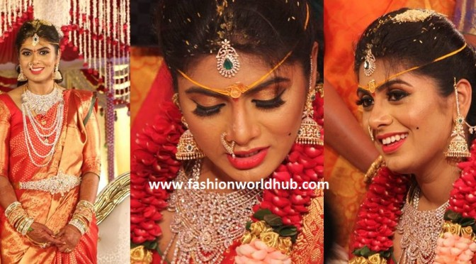 Bride in Diamond jewellery!