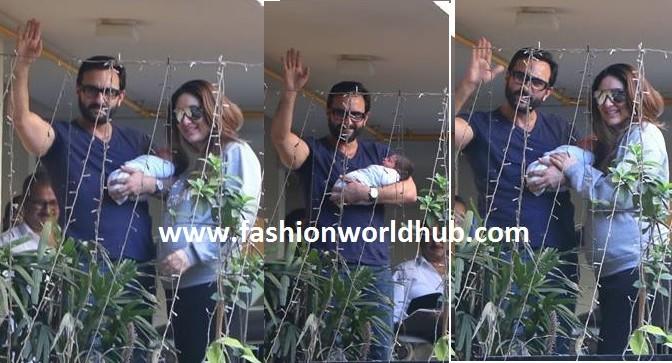 Kareena kapoor & saif Ali khan is back to home with their prince!