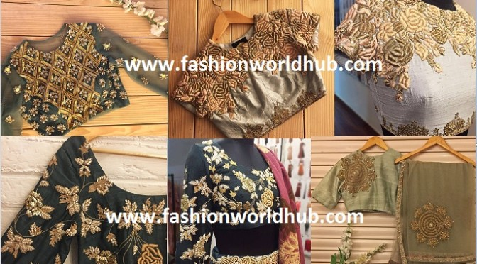2017 Latest Embroidered  blouse designs!