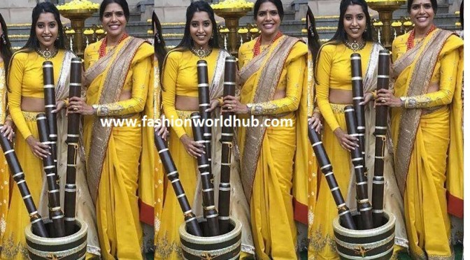 Shriya bhupal Celebrations began with pasupu (haldi) function!
