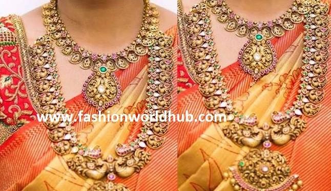 Antique Peacock haram & Mango necklace!