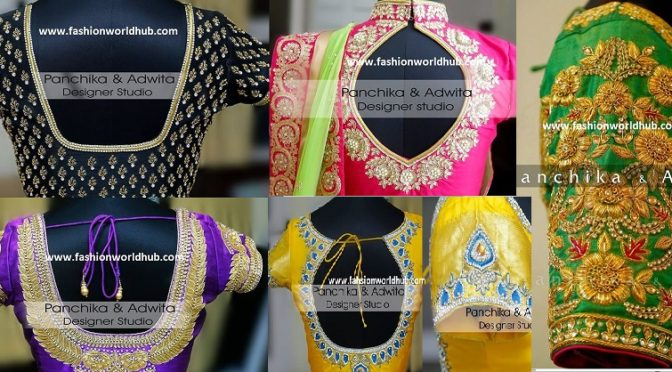 Top 10 Maggam work blouses of 2017.