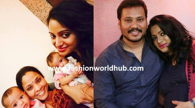 Finally udaya Bhanu shared her twin baby photos & named their baby name as….