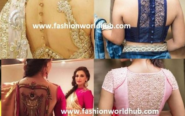 2017 Top Blouse back neck patterns trending now